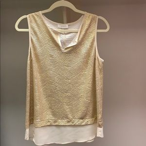 Soft gold metallic Sleeveless top